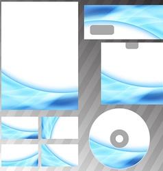 Blue glowing energy swoosh wave style mock-up vector