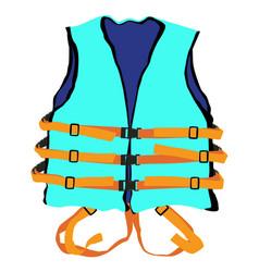 blue life jacket vector image