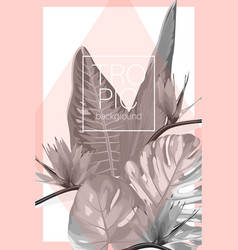 botanical exotic tropical invitation card template vector image