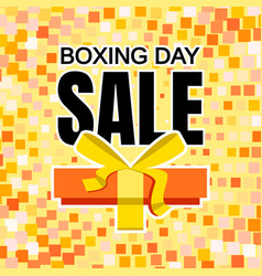 boxing day sale concept background flat style vector image