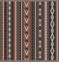 Brown winter knitted wool texture background vector