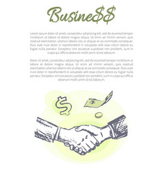 business poster text sample vector image