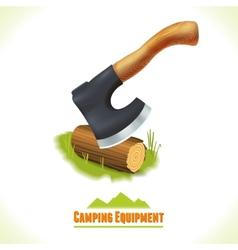 Camping symbol axe vector image