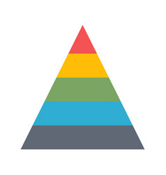 Chart pyramid flat icon vector