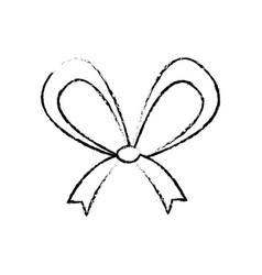 christmas bow ribbon decoration image vector image