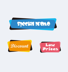 collection sale discount styled banners vector image