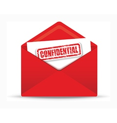 confidential red envelope vector image