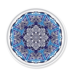 Decorative plate with round ornament vector