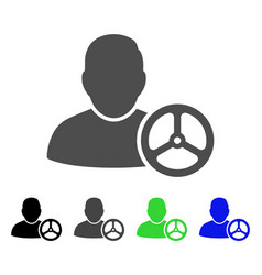 Driver wheel flat icon vector