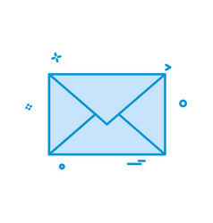 email envelope icon design vector image