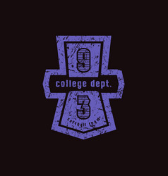 Emblem of softball college team vector