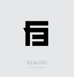 f3 - design element or icon letter f and number 3 vector image