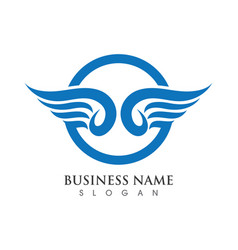 Falcon wing logo template vector