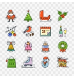 Fashionable Patch Christmas vector