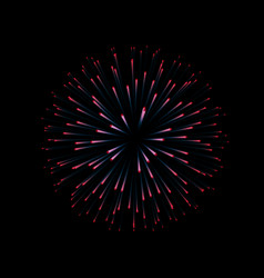 Fireworks new year celebration festive night vector