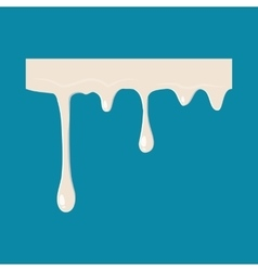 Flowing drop of milk icon vector