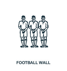 football wall icon mobile apps printing and more vector image