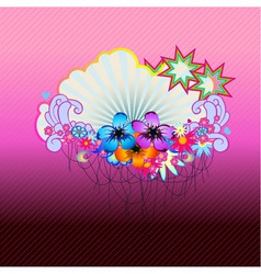 Funky floral vector