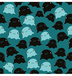 Funny sea seamless pattern vector image