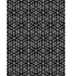 Futuristic continuous contrast pattern motif vector