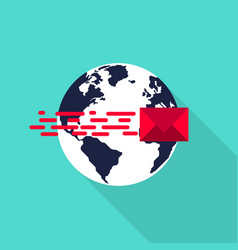global communication connection network concept vector image