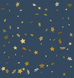 Golden paper foil sequins falling down isolated vector