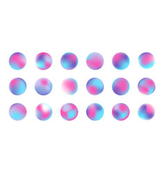 Gradient neon blue and pink liquid color circles vector