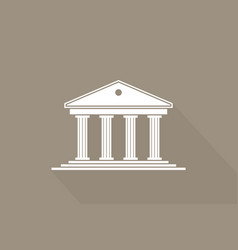 Greek temple icon roman parthenon ancient vector
