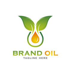 green oil logo concept vector image