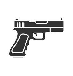 gun pistol glyph icon vector image