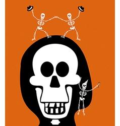 Halloween greetings Skulll Background vector