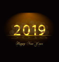 happy new year 2019 background with golden vector image