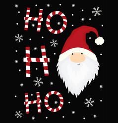 ho ho ho christmas card vector image