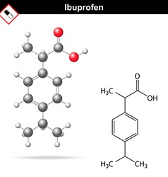 Ibuprofen molecular chemical structure vector