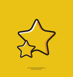 Icon star vector