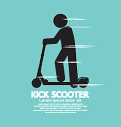 Kick Scooter Black Symbol vector image