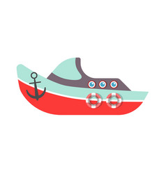Kid toy or children plaything ship boat vector