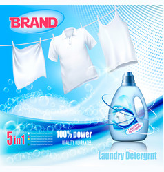 laundry detergent ad washing white clothes vector image
