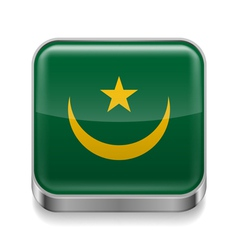 Metal icon of Mauritania vector