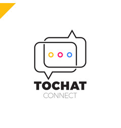 Mini chat logo bubble and three dots vector