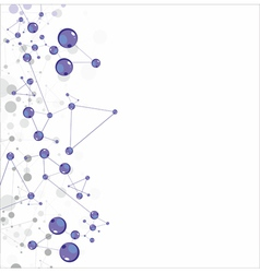Molecular structures vector