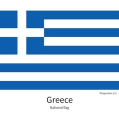 National flag of Greece with correct proportions vector image
