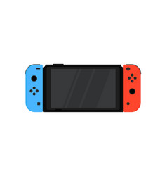 nintendo switch with wireless controllers joy-con vector image