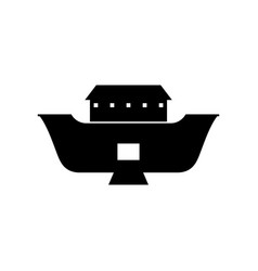 Noahs ark with opened cargo hold vector