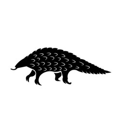 pangolin icon vector image