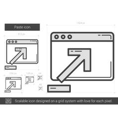 Paste line icon vector