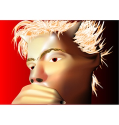 Pensive devil vector
