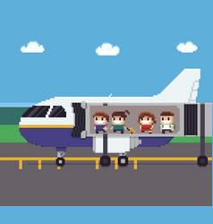 Pixel plane boarding vector