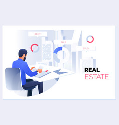 real estate conceptreal estate agent or broker vector image