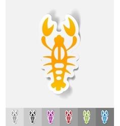 Realistic design element crayfish vector